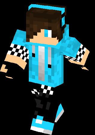Anthony Blue Hoodie Hd Redo Skin Minecraft Skins