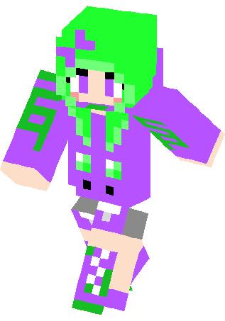 Awesome minecraft skins for girls awesome human spike girl skin
