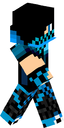 blue creeper teenager skin minecraft skins