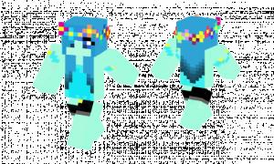 Blue Flowerpower Girl Skin