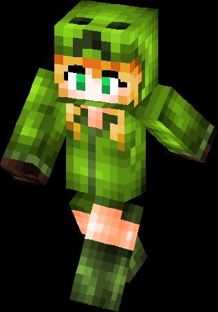 Minecraft Skins Creeper Girl - Skin para minecraft pe creeper