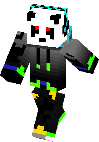 cool dj panda skin minecraft skins