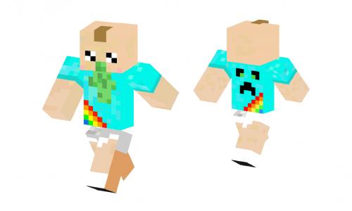 Cute Barf Baby Skin Minecraft Skins