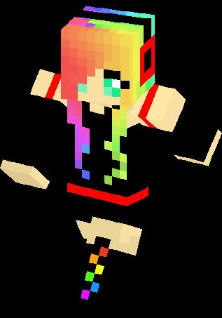 Emo Rainbow Girl Skin | Minecraft Skins