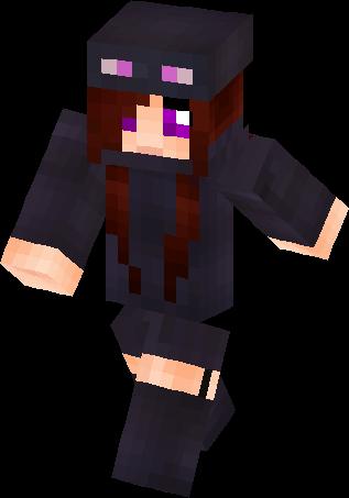 Enderman Girl Mob Talker Skin Minecraft Skins - Mob skins fur minecraft