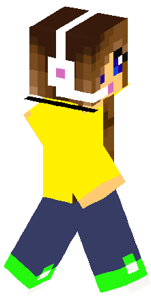 Idea final, gamer girl minecraft skin that