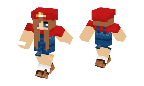 Girl Mario Skin
