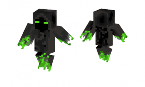 Green And Black Ghost Skin