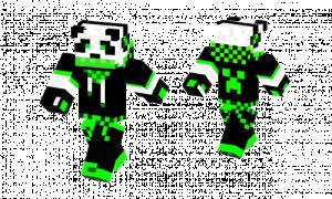 Green Panda Skin