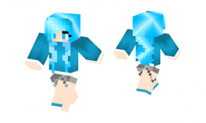 Just A Blue Girl Skin