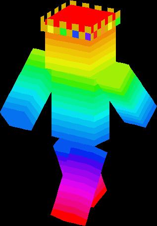 King Rainbow Skin | Minecraft Skins
