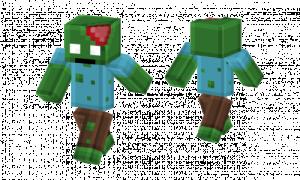 Pixel Zombie Please Vote Skin