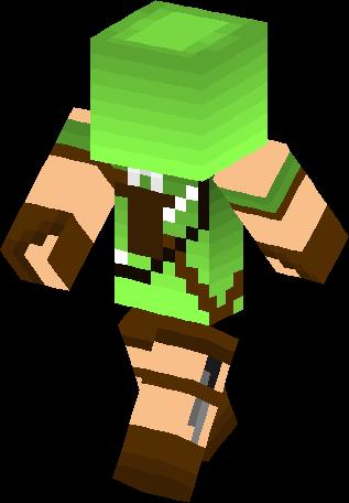 Minecraft green archer skin download right klick save