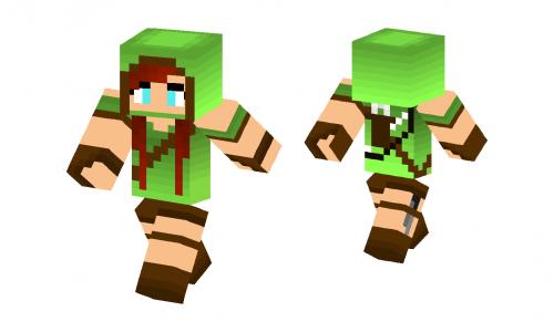 Minecraft archer girl skin pretty archer girl skin