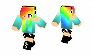 Rainbow Dash Girl Skin