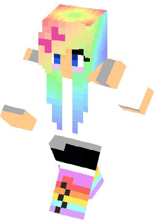 Rainbow Girl Skin | Minecraft Skins