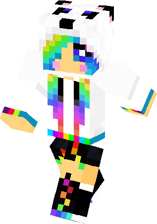 Rainbow Hair Girl Skin Minecraft Skins
