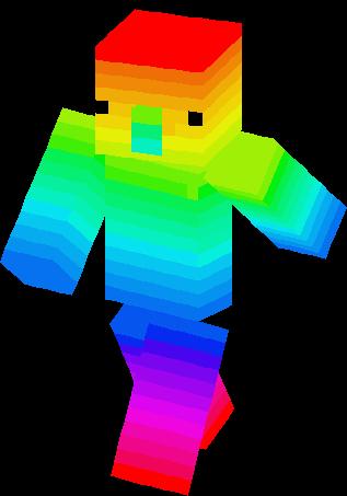 Rainbow Villager Skin Minecraft Skins