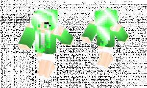 Shy Green Girl Skin