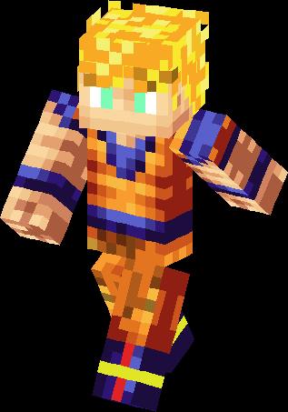 Ssj Goku Skin Minecraft Skins - Skins para minecraft pocket edition de goku