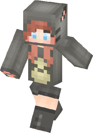 totoro girl with short hair skin  minecraft skins