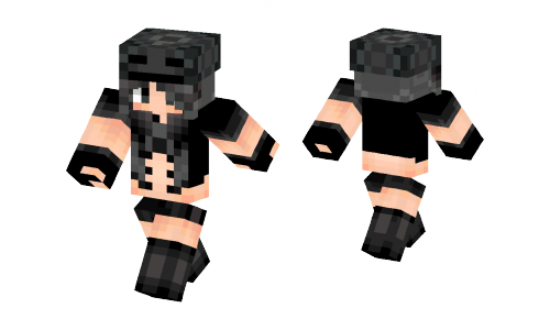 Skeleton Minecraft Girl