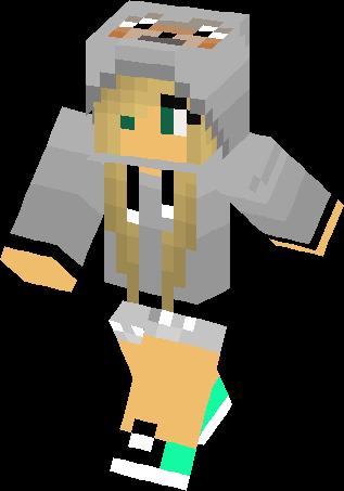 Wolf Girl With Green Eyes Skin Minecraft Skins